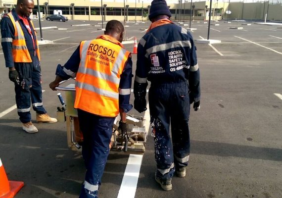 Car-park-markings-with-thermoplastic-paint-at-Jabi-Lake-Mall